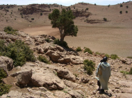 Hirte auf Sommerweide Hoher Atlas Marokko