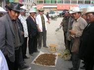 Raupenpilzhändler auf dem Tibetischen Hochland